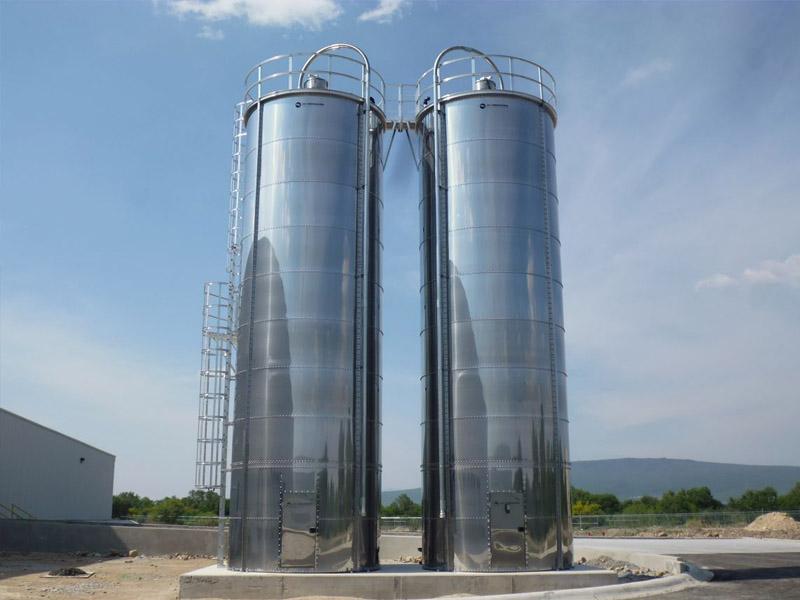 Silo modular acero inoxidable 120 toneladas.